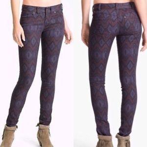 Free People | Ikat Chevron Print Skinny Jeans